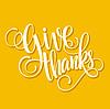 Happy Thanksgiving Beschriftung. Hintergrund