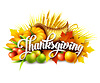 Thanksgiving Füllhorn voller Früchte und Ernte