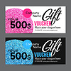 Gift Card Design mit Gold Glitter Textur | Stock Vektrografik