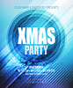 Weihnachts-Nacht-Party Plakat oder Flyer