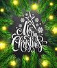 Векторный клипарт: Новогоднее украшение на доске
