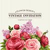 Floral ramki z kwiatami. Kwiatowy bukiet z   Stock Vector Graphics
