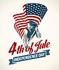 American Independence Day Schriftzug Design. templat