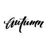 Vektor Cliparts: Fall Moderne Kalligraph-Karte. Schriftzug Design. Tinte