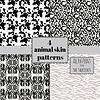4 nahtlose Tierhaut Muster eingestellt