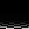 Hintergrund Schachbrett Stock, schwarz