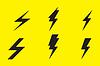 Blitz-Symbol auf gelbem Hintergrund