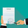 Vertragsunterzeichnung Signaturprüfung Stempel