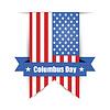 Hintergrund zu Tag des Kolumbus, der amerikanischen Flagge