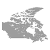 Kanada-Karte grau