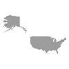 USA-Karte grau