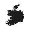Silhouette Karte von Irland in schwarz