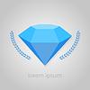 Diamant-Logo-Symbol auf grauem Hintergrund