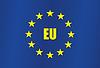 Flagge der Europäischen Union ist stilvoll eingerichtet realistisch