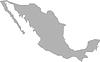 Vektor Cliparts: Karte grau Mexiko gefärbt