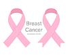 Vektor Cliparts: Set rosa Bänder Brustkrebs. Frauen im Gesundheitswesen
