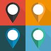 Vektor Cliparts: Satz von Zeigern auf verschiedenen Hintergründen zur Karte