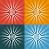 Vektor Cliparts: Set von vier Retro-Hintergrund