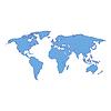 Vektor Cliparts: Weltkarte blau