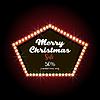 Vektor Cliparts: Frohe Weihnachten Text Beschriftung Design-Karte