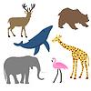 Векторный клипарт: животных ребенка