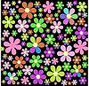 Векторный клипарт: сказочные поле цветов
