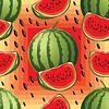 nahtlose Muster der reife Wassermelone