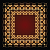 abstrakte Muster mit goldenen floralen Ornamenten