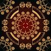 abstrakte nahtlose Muster mit goldenen floralen Ornamenten