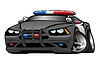 Police Muscle Car Cartoon Illustration | Stock Foto