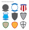 Shields, Badges and Insignias Set