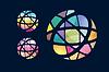 Глобус абстрактный логотип шаблон. Круг круглый | Векторный клипарт