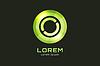 Kreis abstrakte Logo-Vorlage. Runde Form und