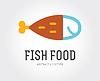 Abstrakte Fisch-Logo-Vorlage für Branding und Design