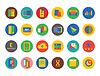 Business-Icons Set. Shop, Geld und Handel Symbole