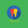 Tooth Icon Icon. Gesundheit, Medizin oder Doktor und
