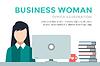 Geschäftsfrau Silhouette. Businesswoman Arbeit