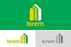 Векторный клипарт: Банк, финансы организация шаблон логотип