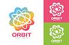 Векторный клипарт: Технология орбита веб кольца логотип