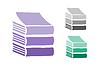 Векторный клипарт: Установить Книги логотип иконки. Продажа фон