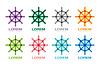 Векторный клипарт: Руль навигации значок логотип. Символ Навигация
