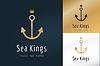 Векторный клипарт: Якорь логотип значок. Море, моряк символы