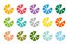 Векторный клипарт: Известь или лимонный напиток фрукты дизайн логотипа шаблон значок