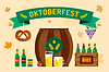 Oktoberfest Celebration Hintergrund Plakat