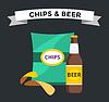 Bier Snacks Chips Packung