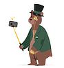 Selfie Foto bear Geschäftsmann Porträt