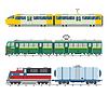 Moderne und Oldtimer-Züge Sammlung