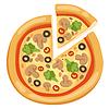 Pizza Flach Symbole