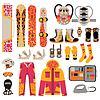 Snowboard Sport Kleidung und Werkzeuge Elemente