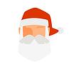 Weihnachtsmann Flach Symbol avatar